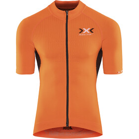 X-Bionic The Trick Kortärmad cykeltröja Herr orange sunshine/black